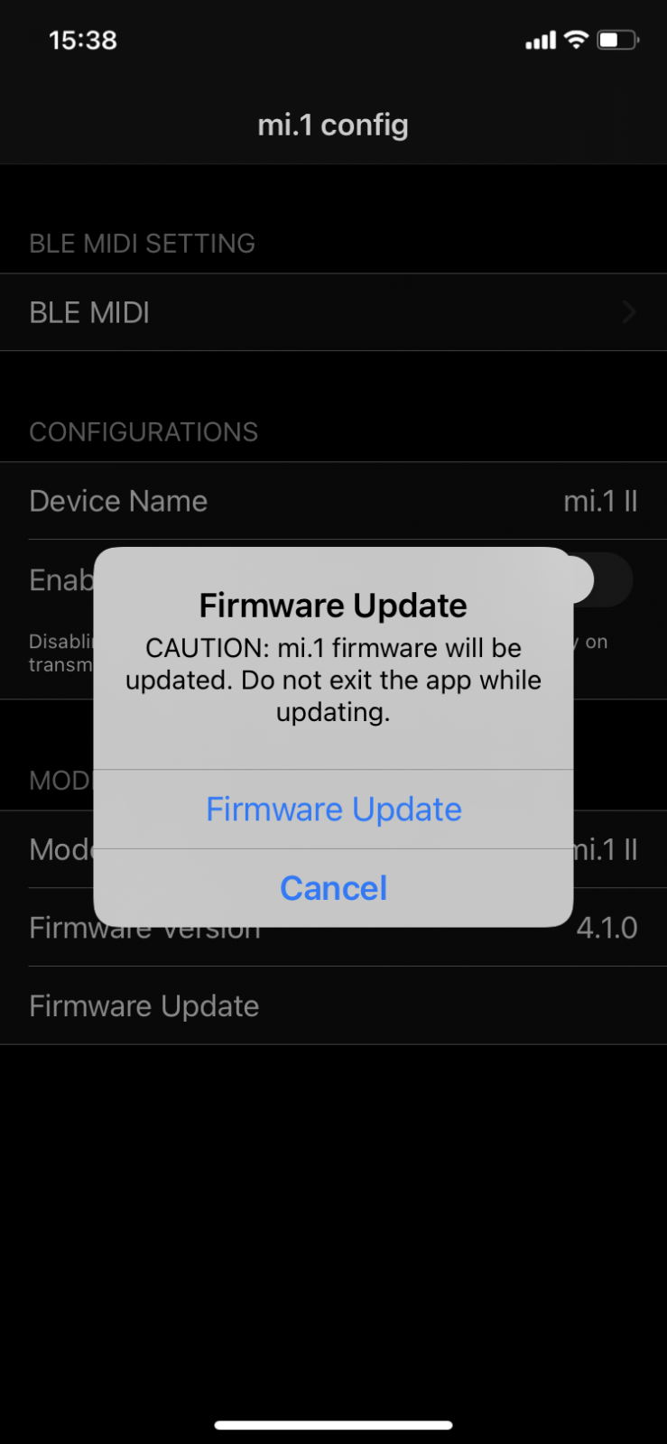 5. Drücken Sie nun auf Firmware Update und bestätigen Sie dies erneut.
